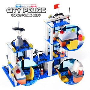 Image 5 - 818 قطعة مركز شرطة المدينة SWAT سيارة اللبنات متوافق مدينة الشرطة الطوب بنين أصدقاء لعب للأطفال هدايا