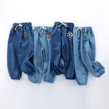 Kids Cartoon Trousers Pant Fashion Girls Waist Jeans Children Boys Hole Jeans Kids Fashion Denim Pants Baby Jean Infant Clothing(China)