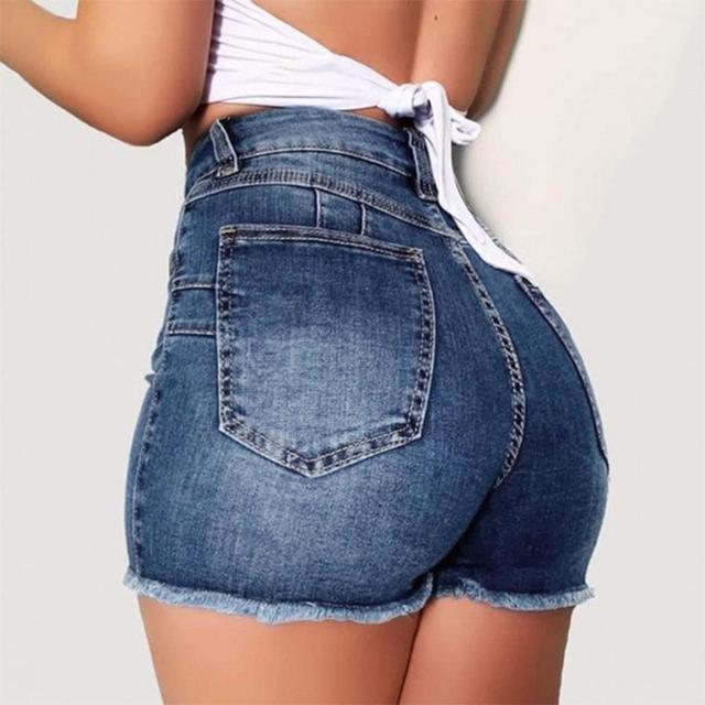 Plus Size Jeans Shorts Women Summer High Waisted Denim Shorts Jeans Women Short 2020 New Femme Push Up Skinny Slim Denim Shorts 2