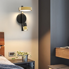 Golden Copper Lamp Nordic Style Bedside Wall Sconce 15W Creative Wall LED 3 Light Dim for TV Background Aisle Hotel Study