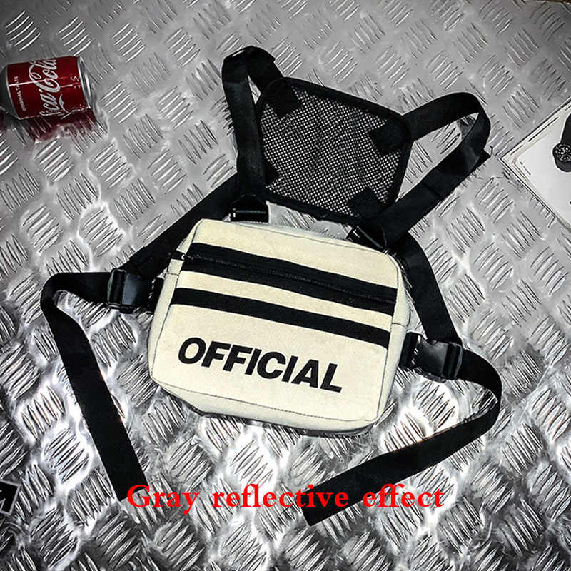 Women Trendy Chest Rig Bags 2019 New Reflective Vest Hip-hop Streetwear Chest Bag Lady Waist Bags Men Tactical Chest Pack Female