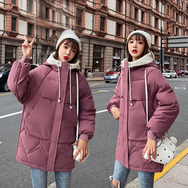 New Products Cotton-padded Clothes Women's 2019 Winter New Style Women's Trend Cotton Coat Korean-style Loose-Fit Padded Cotton