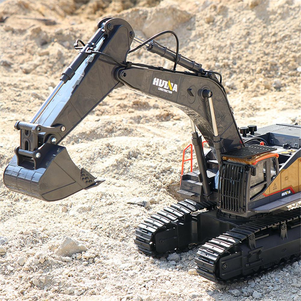 2020 New Item HuiNa 1:14 1592 RC Alloy Excavator 22CH Big Rc Trucks Simulation Excavator Remote Control Vehicle Toys for Boys - 3