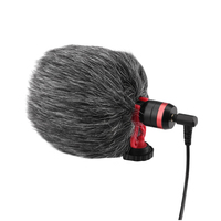 Wired condenser microphone live vlog video recording windproof mic for dji pocket 2 do-it-all handle gimbal camera accessory