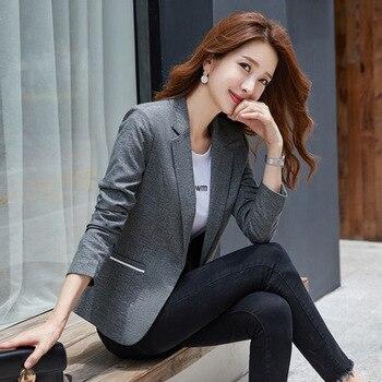 2020 Spring Autumn Korean Long Sleeve Suit Plus Size 3xl Slim Women Blazer Coats And Jackets Ladies Clothes Luxury Outerwear new fashion women female korean short type long sleeve slim motor zipper leather jackets coats