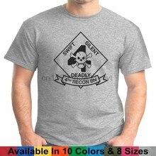4th reconhecimento usmc eua marines t camisa