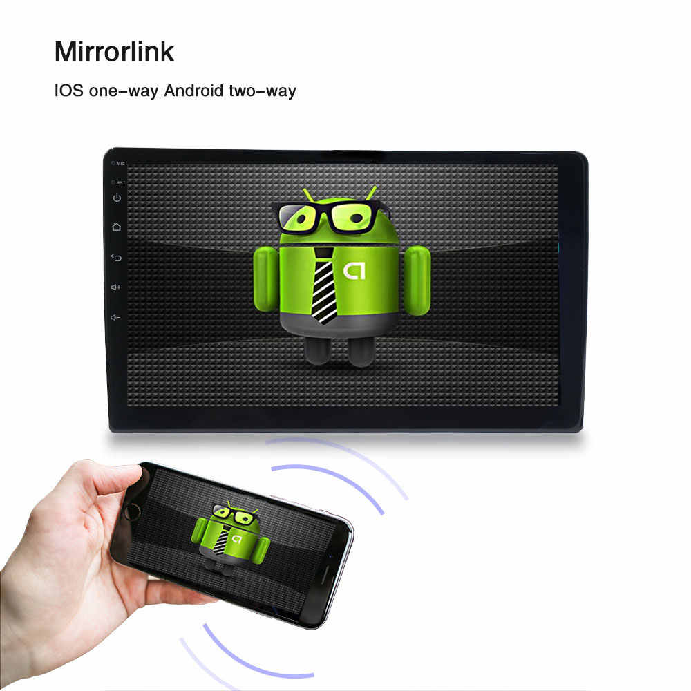 2dinカーラジオのandroidマルチメディアプレーヤーautoradio 2din 10.1 インチのタッチスクリーンのgps bluetooth fmの無線lan自動オーディオプレーヤーステレオ