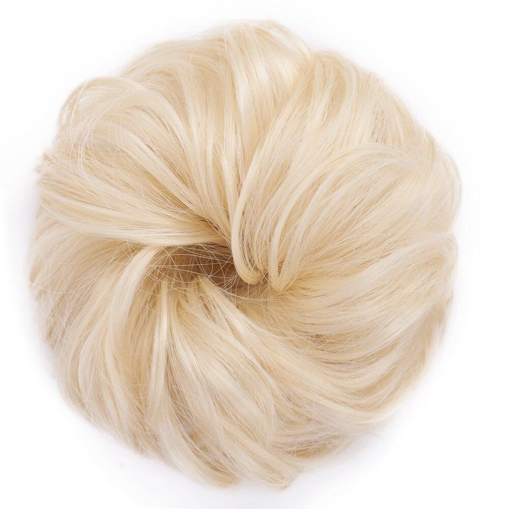 Пучок волос кудрявый Dount Updo синтетические Scruchies эластичный зажим в шиньон для наращивания шиньон аксессуары для волос Термостойкое волокно - Цвет: 613