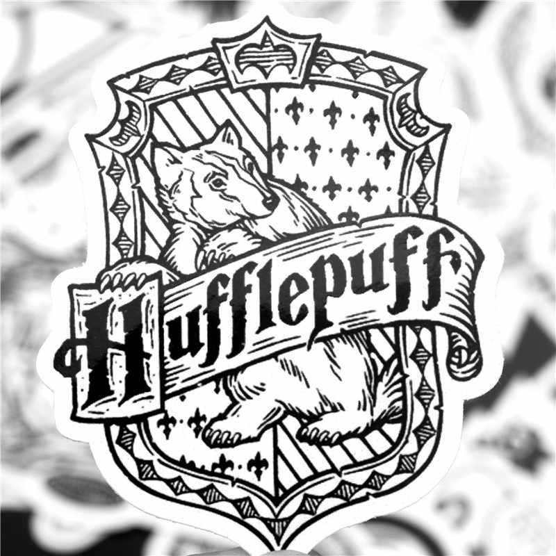 30 Pcs HP Stiker Potters Hitam dan Putih To Harry Stiker untuk Anak-anak Bagasi Skateboard Laptop Anime Kartun Tahan Air Stiker