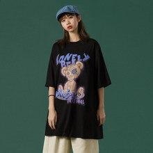 Streetwear roupas femininas 2021 verão novo kawaii plus size t anime manga curta camiseta gola redonda topo roupas bonitas