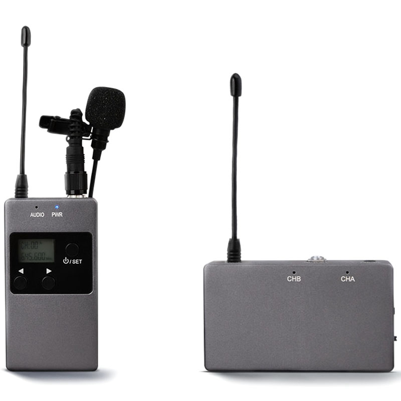 KW M01F 50 Channel UHF Professional Chargable Dual Wireless Lavalier Microphone System for Canon 5DII/5DIII 6D Camcorder & Smart|Microphone Accessories| |  -