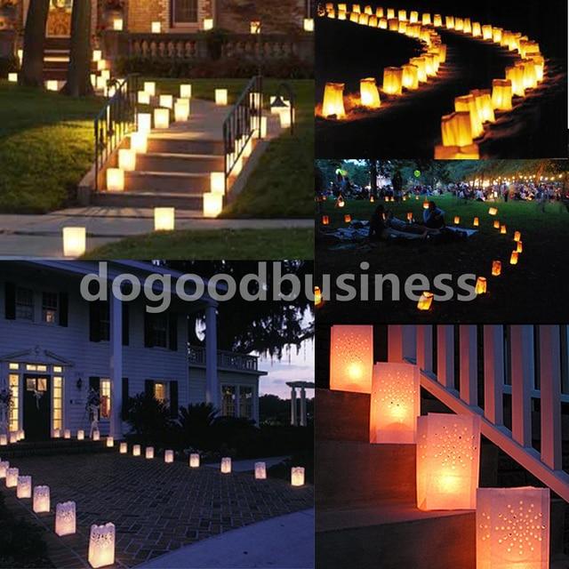 10 sztuk świąteczny lampion serce uchwyt na podgrzewacz do herbaty Luminaria papierowa świeca do lampionu torba na wesele akcesoria do dekoracji domu