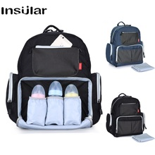 Insular Diaper Bag for Mom Backpack Waterproof Mummy Maternity Nappy Large Capacity Mommy Travel Baby Care Bags Nursing