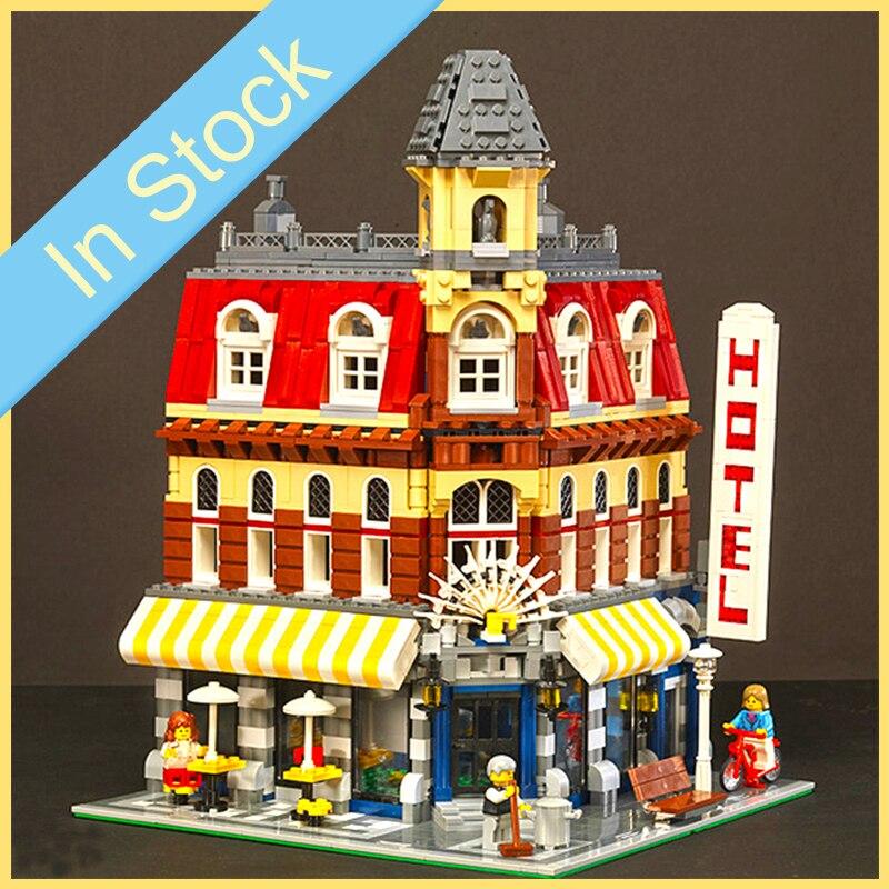 En Stock 15002 2133 pièces Street View créateur série 10182 café coin blocs de construction briques enfants jouets cadeaux de noël