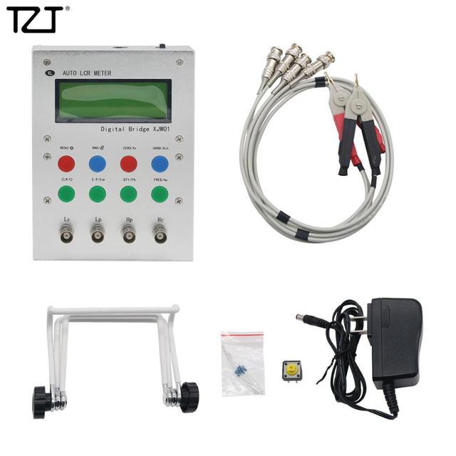 TZT Auto LCR Meter Digital Bridge Resistance Capacitance Inductance ESR Meter 0.3%