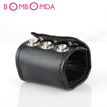 Penis Rings For Men Cock Rings Sexy PU Leather Scrotum Bound Ball Stretcher Penis Ring Dildo Bondage Restraints Sex Toys For Men