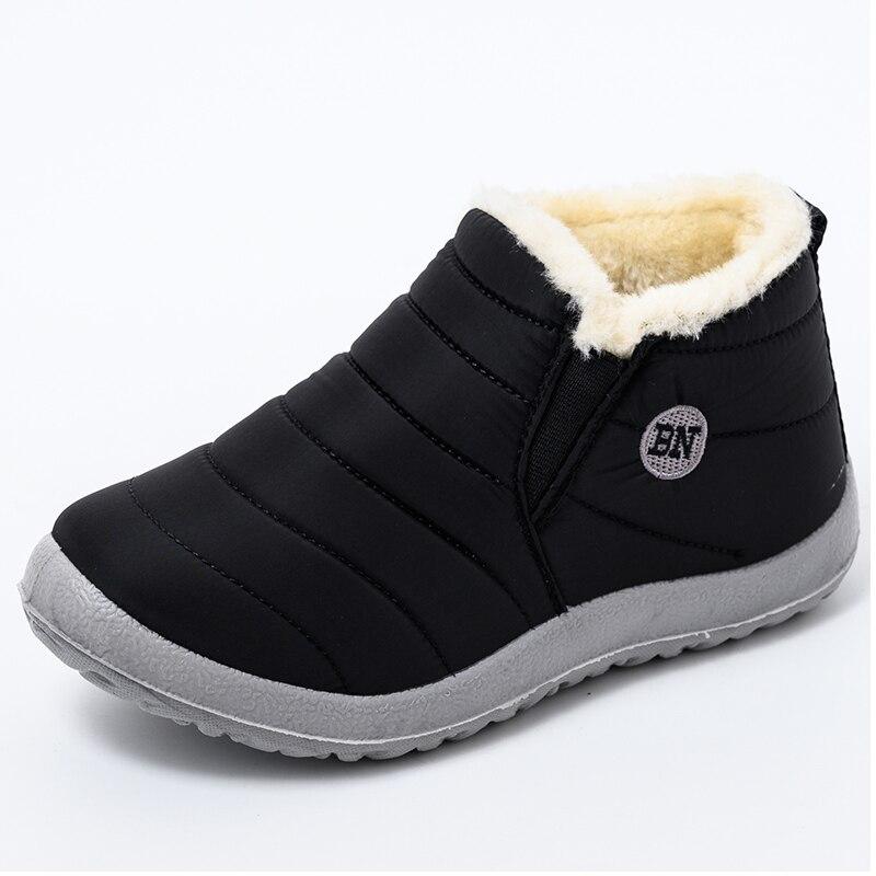 Водонепроницаемые зимние ботинки, женские ботинки, теплые плюшевые зимние ботинки, женская обувь на плоской подошве, женская зимняя обувь д...