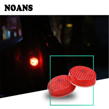 1Pair Magnetic For Mercedes benz W204 W203 W211 AMG Mini cooper Skoda octavia a5 Car Styling Door Strobe Warning Light LED image