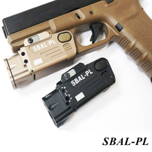 Tactical SBAL-PL Weapon light Flashlight Combo Red Laser Pistol Rifle Constant & Strobe Gun Light Picatinny Rail цены