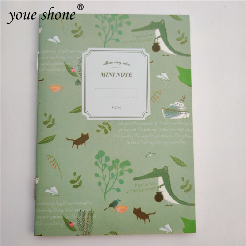 1Pcs=20 Sheets Flowers And Birds Cartoon Notebook Retro Portable Notebooks Office Supplies Children Stationery Gifts