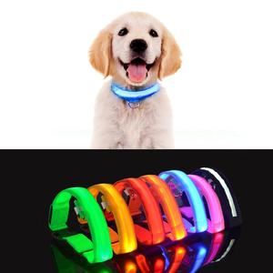 Image 1 - LED Fluorescent Glow light ring for dog Novelty Lighting Collar Anti Lost Pet Night Lamp novedades 2019