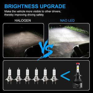 Image 5 - NAO H7 LED H4 H11 HB4 9006 9005 HB3 H1 H8 Car Headlight Bulbs COB SMD 6000K White 30W 12V H3 H13 9007 9004 Auto Accessories