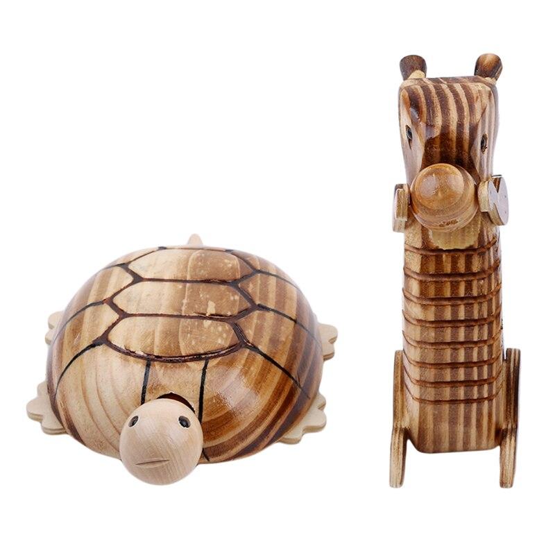 Модель животного, деревянная черепаха, белка, украшение для дома, детская забавная игрушка в подарок