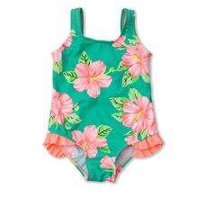 New Models 2-8 Y Baby Girl One Piece Swimsuit Children Swimwear Girls Bathing Suit Kids Summer Beach Swimming Wear цена
