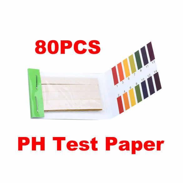 Draagbare 80 Strips PH Test Strip Aquarium Vijver Water Testen PH Lakmoes Paper Full Range Alkaline Acid Test Paper Litmus 1-14 Tes