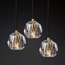Modern Luxury K9 Crystal Pendant Lights Led Nordic Gold Hanging Lamp for Living Room Kitchen Light Fixtures Luminaire Home Decor