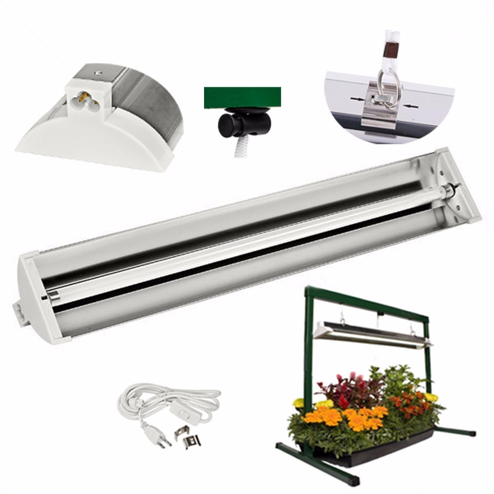 EDL 2ft  24w 3ft 39w 4ft 54w HO T5 Fluorescent Fixtures Hydroponic Grow Light