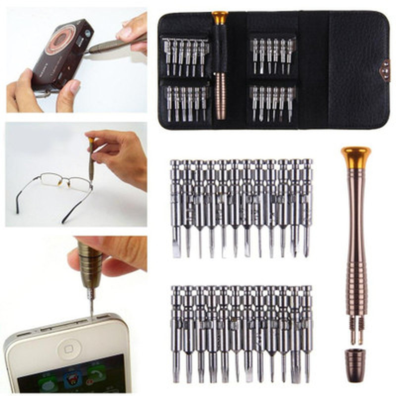 25 Combined 1 Multifunction Manual Screwdriver Bit Set Mobile Phone Repair Tool