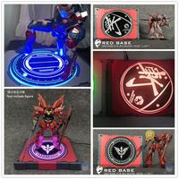 Big model head Light display Led Revolving Base for Bandai MG 1/100 HG RG 1/144 red frame Sinanju Gundam DD059*