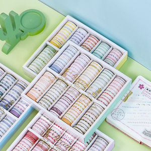Image 2 - 100 Pcs/set Dream Line Series Decorative Washi Tape Japanese Paper Stickers Scrapbooking Vintage Adhesive Washitape Stationary