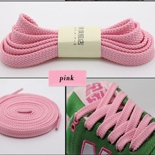 daily sneakers women Shoe laces colored Flat Shoelaces for men shoes solid nylon white black gray red pink blue shoelaces