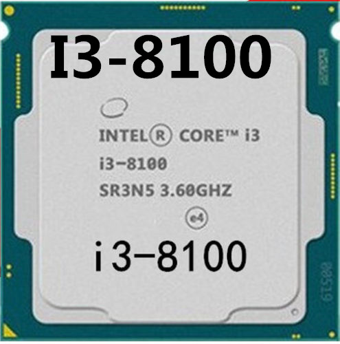 Intel Core I3-8100 I3 8100 3.6 GHz Quad-Core Quad-Thread CPU Processor 6M 65W LGA 1151