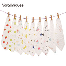 VeraUniquee Bibs Girl Newborn Babador Animal Picture Baby Bibs Cotton Cartoon Saliva Towel Fashionable Cute Bibs for Children(China)