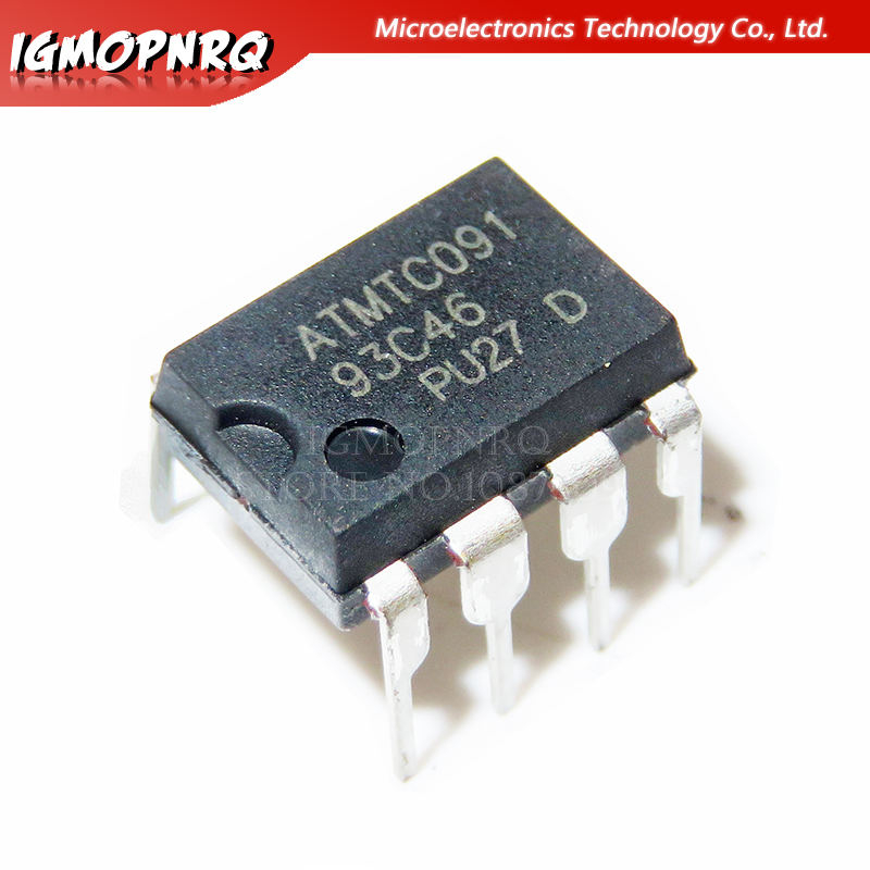 10PCS AT93C46 93C46 DIP-8 EEPROM 64x16 New Original