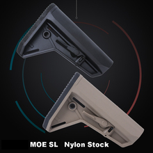 MOE SLC Nylon Paintball Camping Component Adjustable Stock for Airsoft AEG New Jinming8 Gen9 MOE SL AR15/M4 Accessories