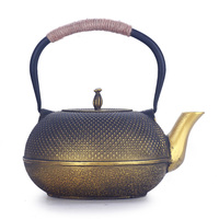 1.8L Large Capacity Classical Exquisite Iron Kettle Cast Iron Teapot Southern Japan Cooking Tea Hand Made Tea Pot Set