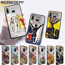 Artist Jean Michel Basquiat Glass Case for Samsung S7 Edge S8 S9 S10 Plus A10 A20 A30 A40 A50 A60 A70 Note 8 9 10