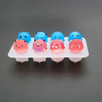 1pcs uv 수지 쥬얼리 액체 실리콘 몰드 diy에 대 한 3d 돼지 수 지 금형 쥬얼리 만들기