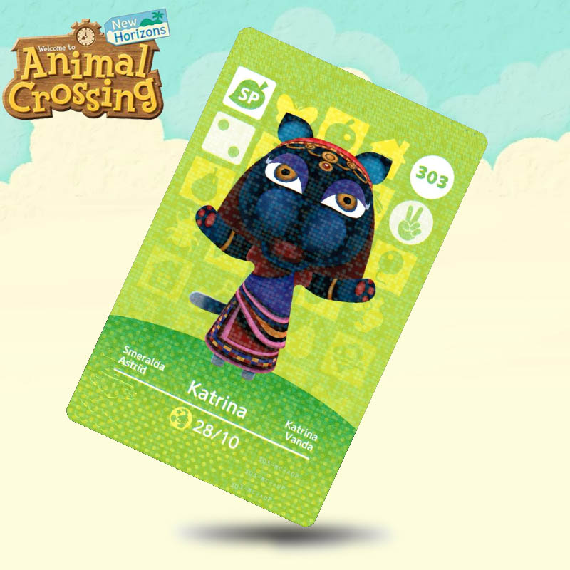 303 Katrina Animal Crossing Card Amiibo Cards Work For Switch NS 3DS Games