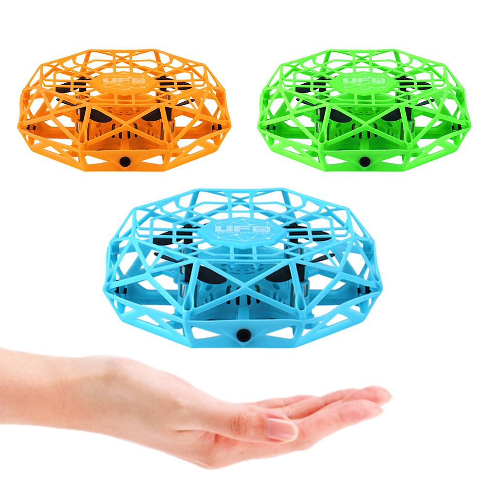 4-Axis Kid 4 Axis UFO 360 Degree Rotation Flying LED Induction Hand Flying Aircraft Toy Induction Drone Children Electronic Toy