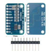 Módulo ADC de 16 bits con amplificador de ganancia profesional, dispositivo de 4 canales, 10 Uds., I2C ADS1115