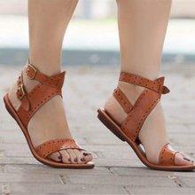 Women Sandals Flat Gladiator Leather Sandals