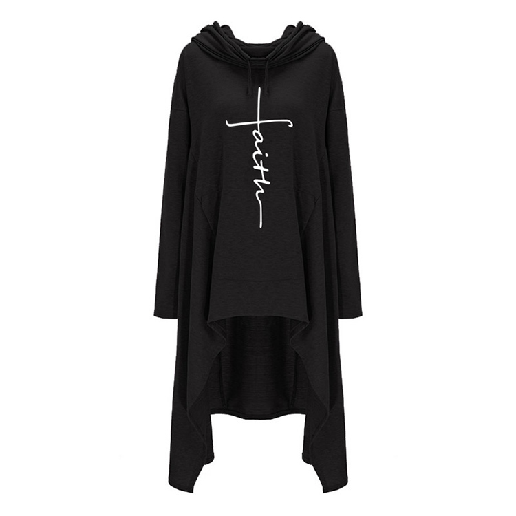 H13dc2fd33a07491abbf080e36f1871c6R - New Faith Letter Embroidered Long Hoodies Women Long Sleeve Irregular Hem Pocket Sweatshirt Female Plus Size Pullover Tops
