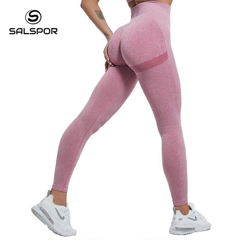 SALSPOR Women High Waist Leggings For Fitness Ladies Sexy Bubble Butt Gym Sports Workout Leggings Push Up Fitness Female Leggins 6