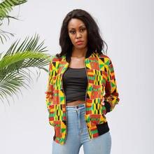 Африканская одежда для женщин Анкара модная куртка бомбер Африканский