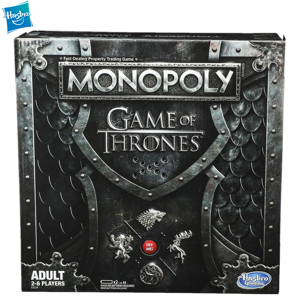 Hasbro Monopoly Game Of Thrones Collector's Edition Board Game Play For Adult Family Gaming Education Toy